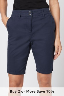 Navy Chino Knee Shorts