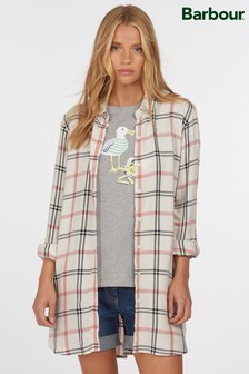 Barbour® Coastal White Check Baymouth Tunic Shirt