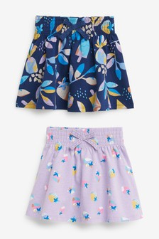 Pink/Navy Ice Cream 2 Pack Jersey Skirts (3mths-7yrs)