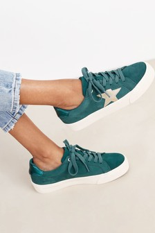 Teal Regular/Wide Fit Signature Chunky Star Trainers