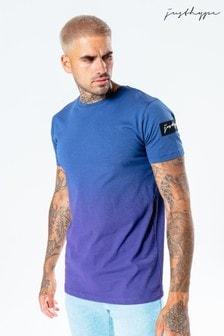 Hype. Mens Blue Speckle Fade T-Shirt