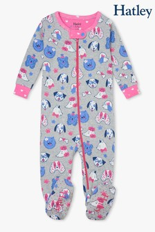 Hatley Playful Pups Organic Cotton Footed Coverall