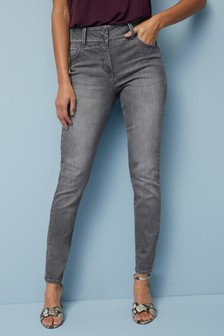 Grey Enhancer Skinny Jeans
