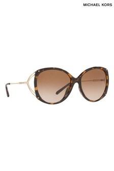 Michael Kors Tortoiseshell Effect Oversized Sunglasses