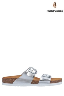 Hush Puppies Silver Kylie Mule Sandals