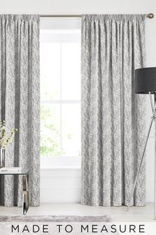 Mabel Slate Grey Made To Measure Curtains