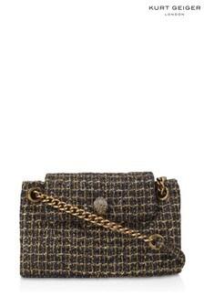 Kurt Geiger London Gold Combination Kensington Shoulder Bag