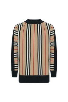 Boys Cream Cotton Sweater