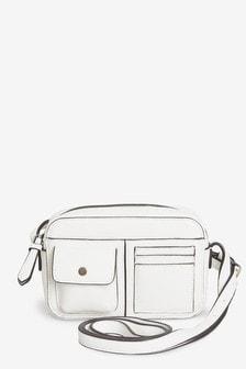 White Mini Utility Across Body Bag