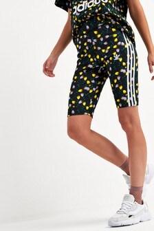 adidas Originals Black Bellista Printed Cycling Shorts