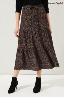 Phase Eight Neutral Penele Print Maxi Skirt