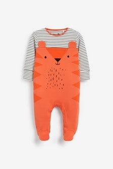 Orange Tiger Sleepsuit (0mths-2yrs)