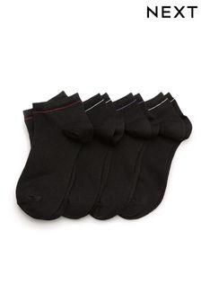 Black Modal Trainer Socks Four Pack