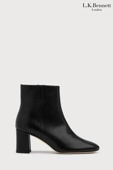 L.K.Bennett Black Jette Square Toe Boots