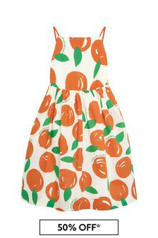 Stella McCartney Kids Girls Orange Cotton Dress