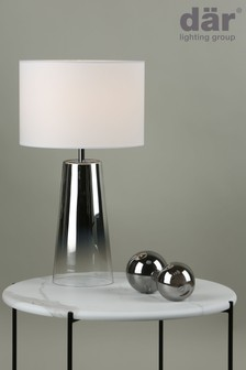 Dar Lighting Silver Smokey Table Lamp