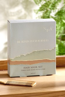 Spa Hair Mask and Comb Gift Set