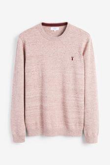 Pink Marl Cotton Rich Stag Marl Jumper