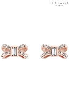 Ted Baker Gold Sabla: Crystal Sparkle Bow Stud Earrings