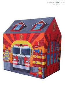 Charles Bentley Pink Childrens Fire Station Play Tent