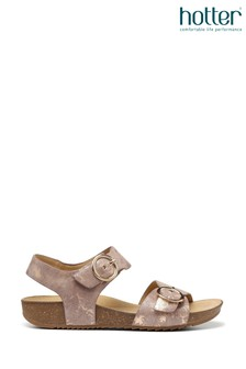 Hotter Tourist Buckle Fastening Cork Sandals