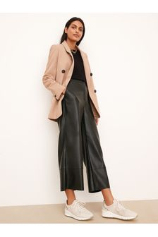 Camel Relaxed Double Breasted Blazer