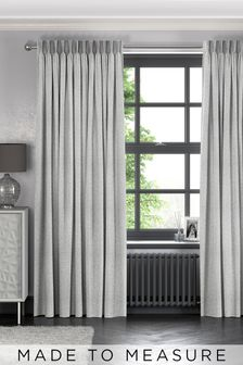 Makrana Oyster Metallic Made To Measure Curtains