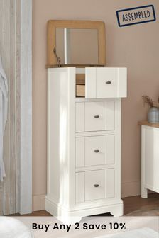 Chalk Hampton Country Luxe 4 Drawer Jewellery Chest