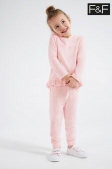 F&F Pink Frill Knit Set