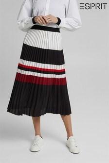 Esprit Black Midi Pleated Skirt