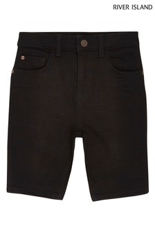River Island Denim Sid Black Shorts