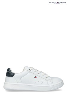 Tommy Hilfiger White Classic Laced Trainers