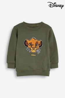 Khaki Simba Bouclé Crew Neck Sweater (3mths-8yrs)