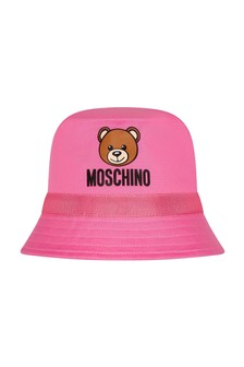Moschino Kids Baby Girls Pink Cotton Hat