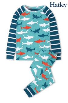 Hatley Blue Great White Sharks Organic Cotton Pyjama Set