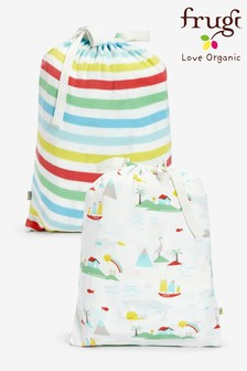 Frugi GOTS Organic Cot Island Life Print Bed Sheets Two Pack