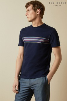 Ted Baker Bevvy T-Shirt With Stripe Chest Detail