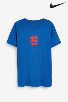 Nike Blue England Crest T-Shirt