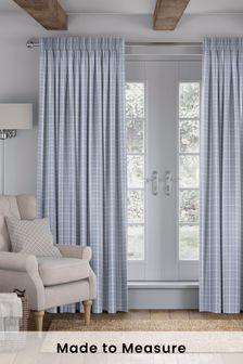 Malvern Sky Blue Made To Measure Curtains