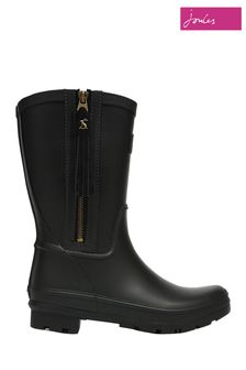 Joules Black Rosalind Mid Height Wellies With Interchangeable Tassels