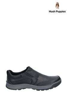 Hush Puppies Black Jasper Slip-On Trainers