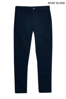 River Island Navy Older Boys Smart Trousers