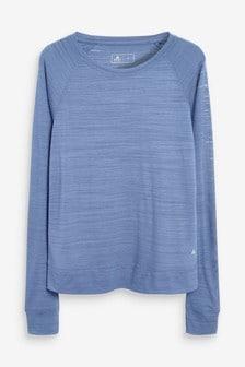 Blue Long Sleeve Sports Top