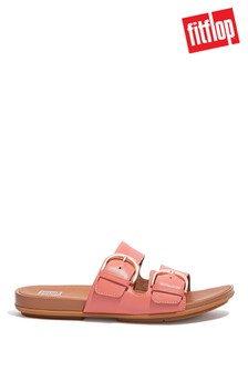 FitFlop Pink Graccie Buckle Slides