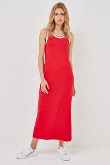 Red Tipped Column Dress
