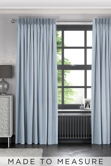 Leta Sky Blue Made To Measure Curtains