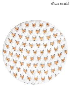 Tobias & The Bear White Just Call Me Fox Organic Cotton Playmat