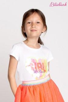 Billieblush White Heart Girl T-Shirt