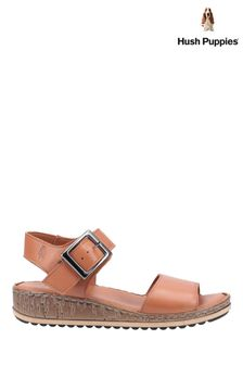 Hush Puppies Brown Ellie Heeled Sandals