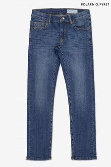 Polarn O Pyret Blue Organic Cotton Slim Fit Jeans